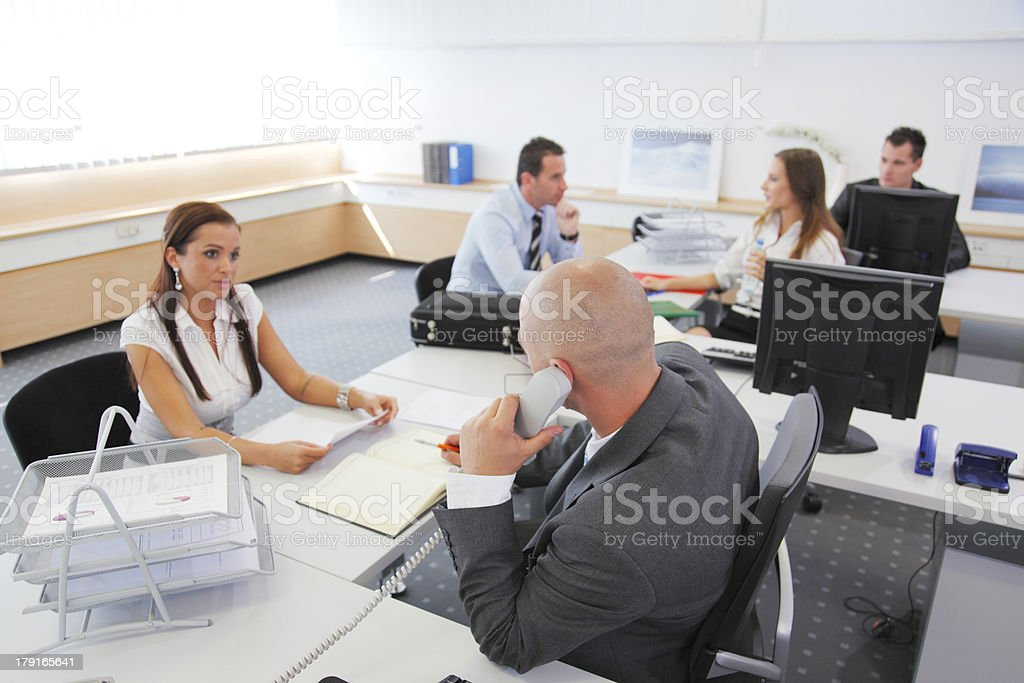 Day at the office royalty-free stock photo