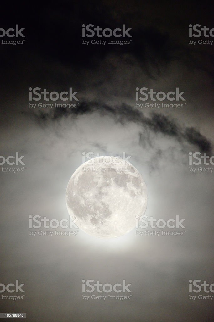 Day Blue Moon on July 31, 2015. stock photo