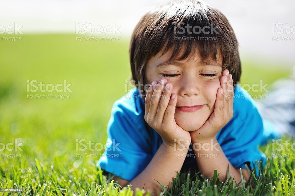 Day Dreaming Child royalty-free stock photo