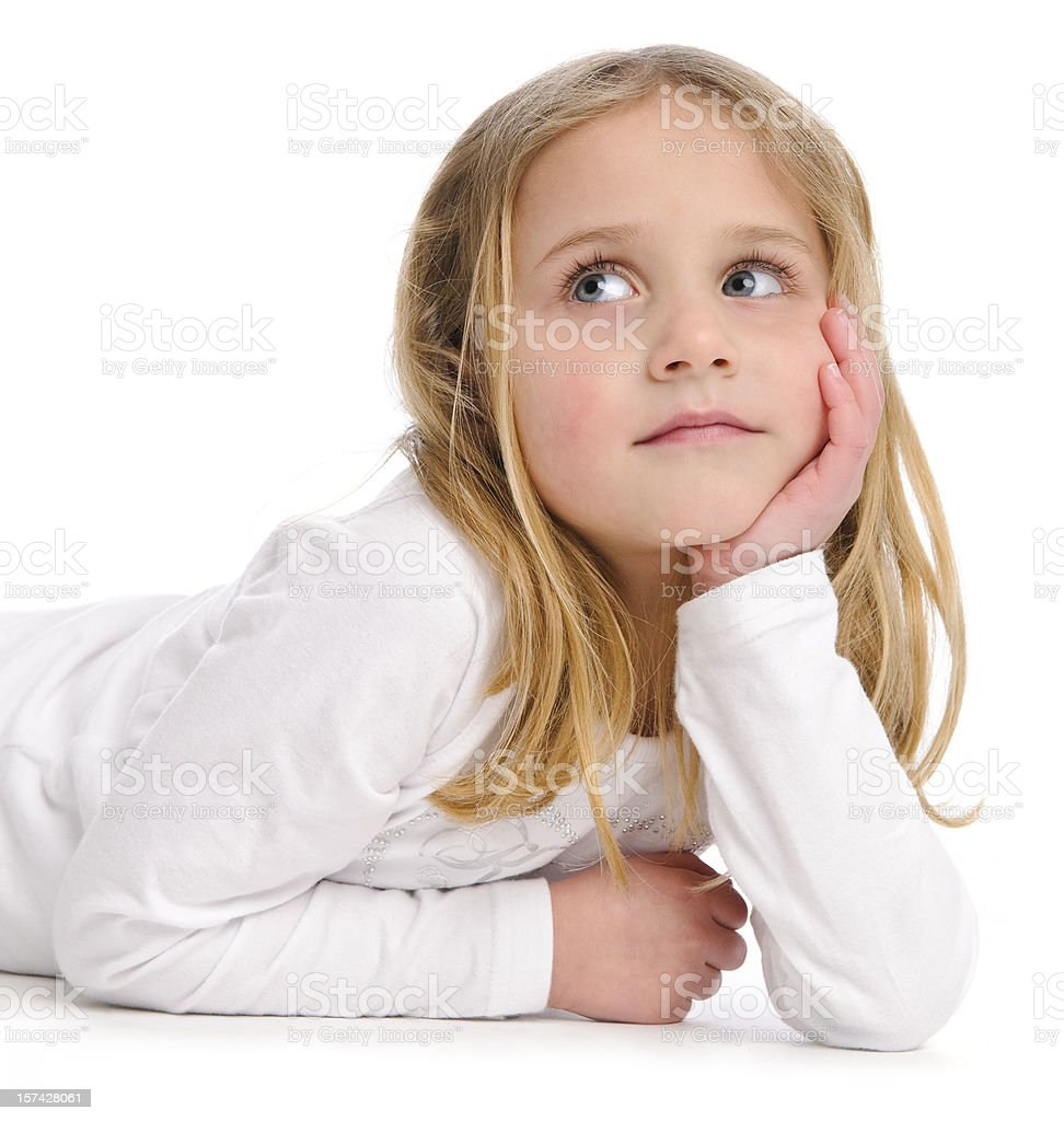 Day dreaming girl royalty-free stock photo