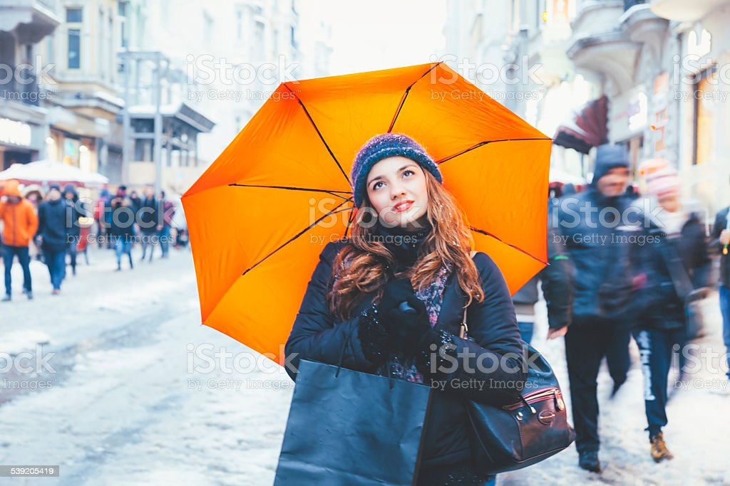 Day Dreaming of shopping in Beyoglu, Istanbul stock photo