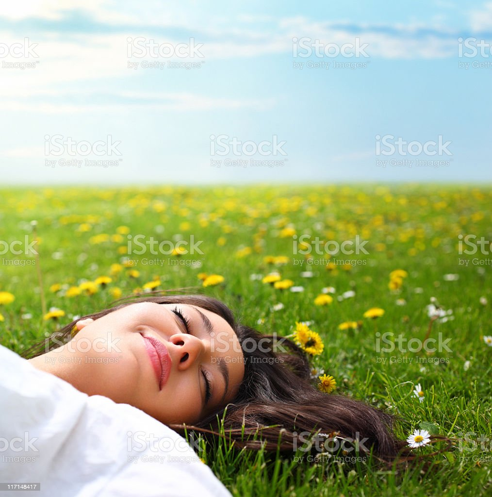 Day dreaming. royalty-free stock photo
