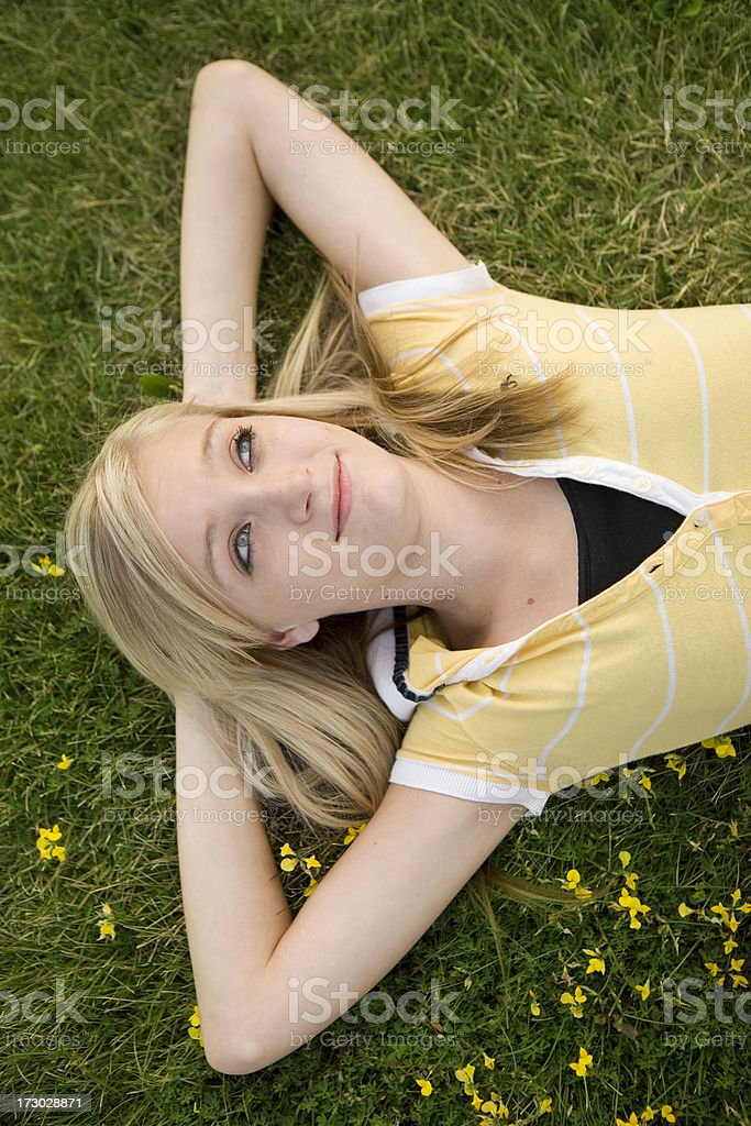 Day dreaming royalty-free stock photo