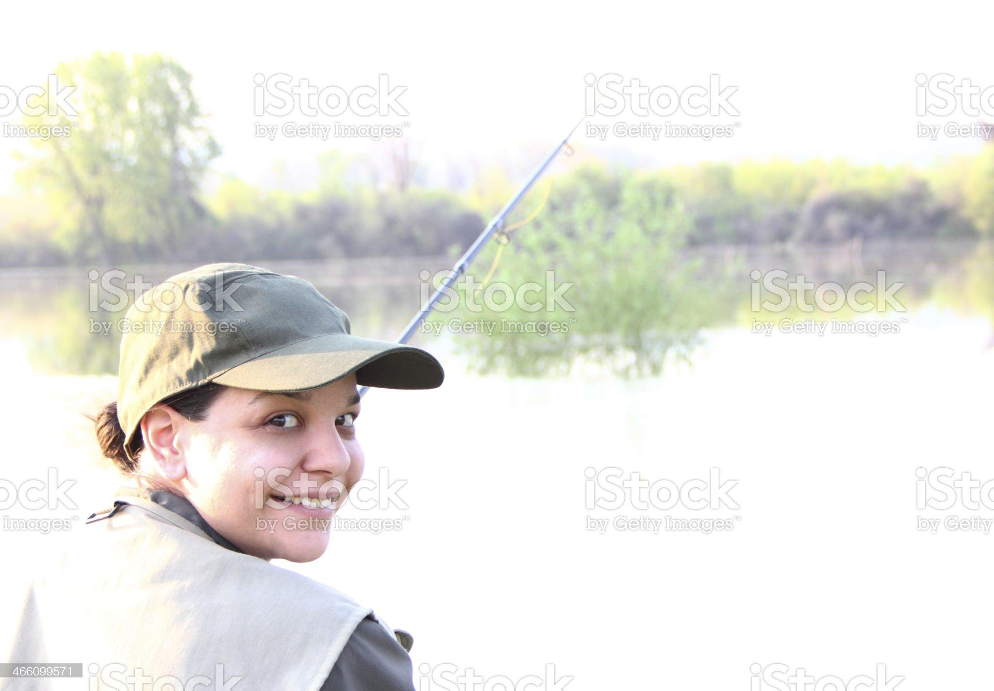 Day fishing royalty-free stock photo