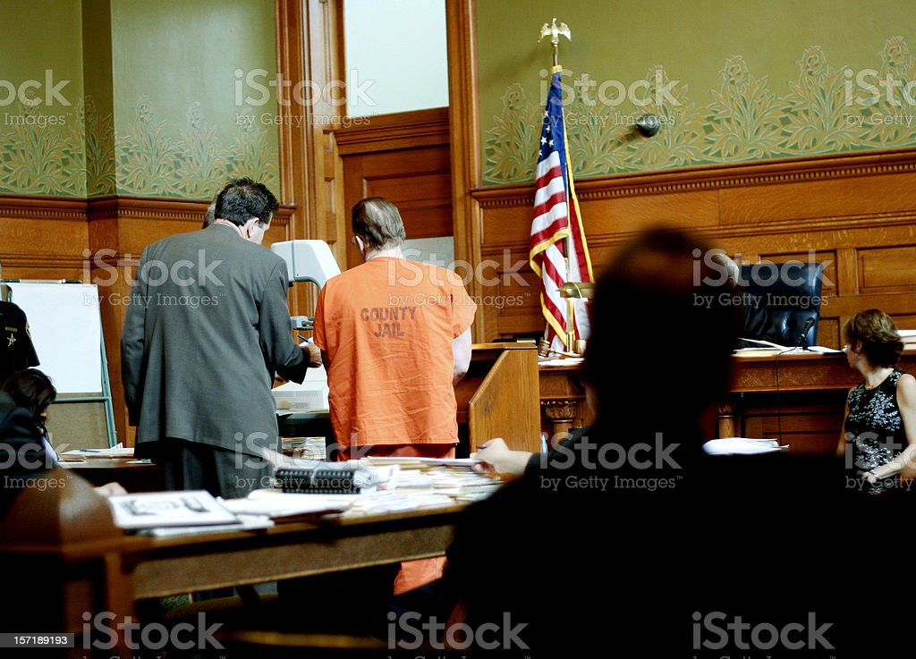 Day in Court stock photo