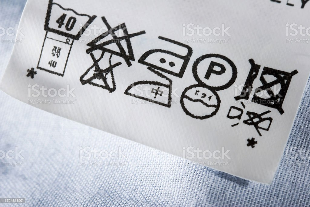 Tag in jeans royalty-free stock photo