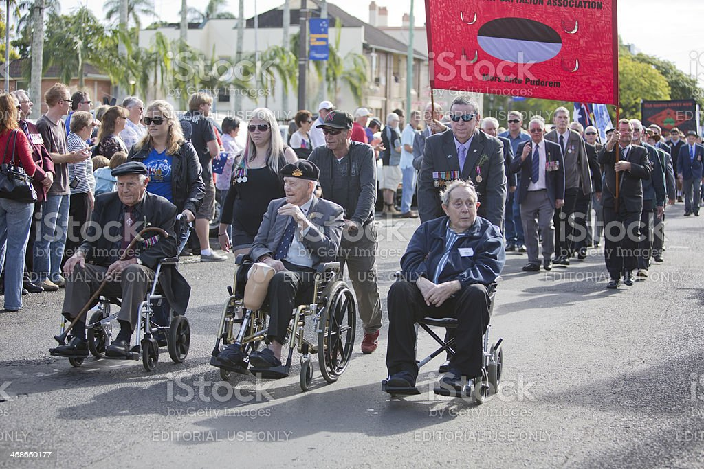 ANZAC Day March Veterans stock photo