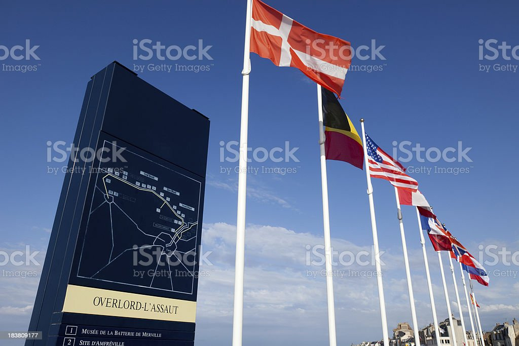 D Day Memorial commemorating Normandy Landings royalty-free stock photo