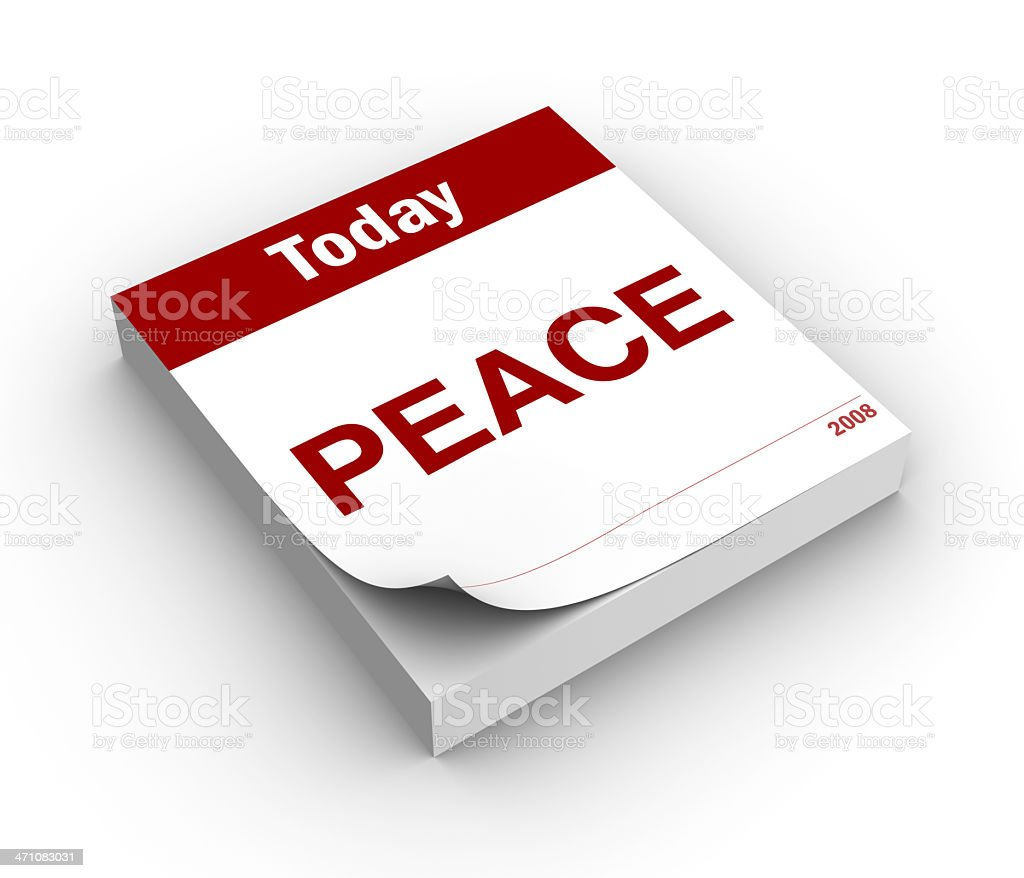 Day of peace royalty-free stock photo