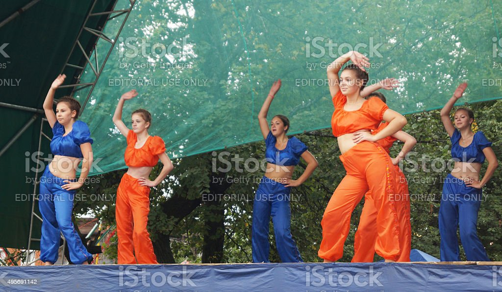 Day of the city Mstera in Russia stock photo