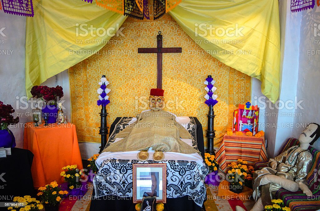 Day of the Dead Altar - Brady Museum of Cuernavaca stock photo