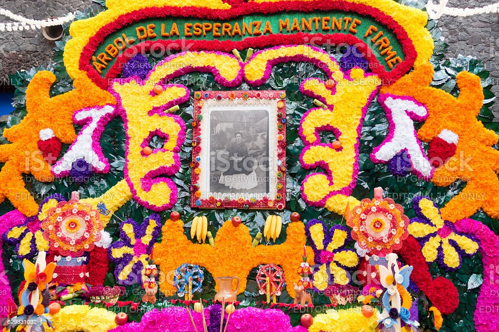 Day of the Dead Altar, Home of Frida Kahlo stock photo
