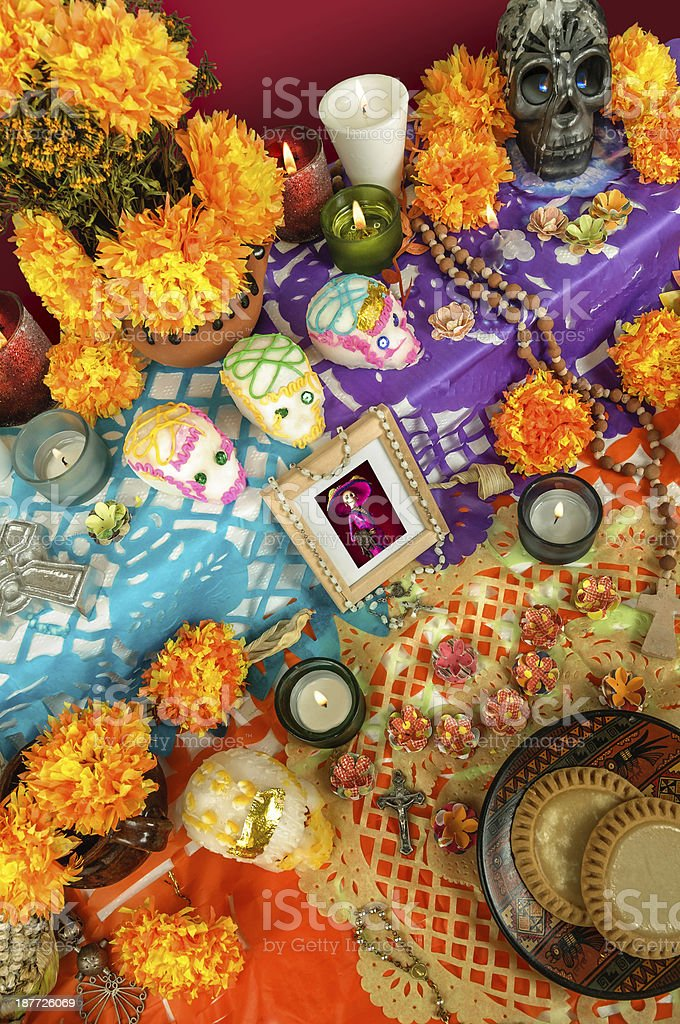 Day of the dead altar (Dia de Muertos) stock photo
