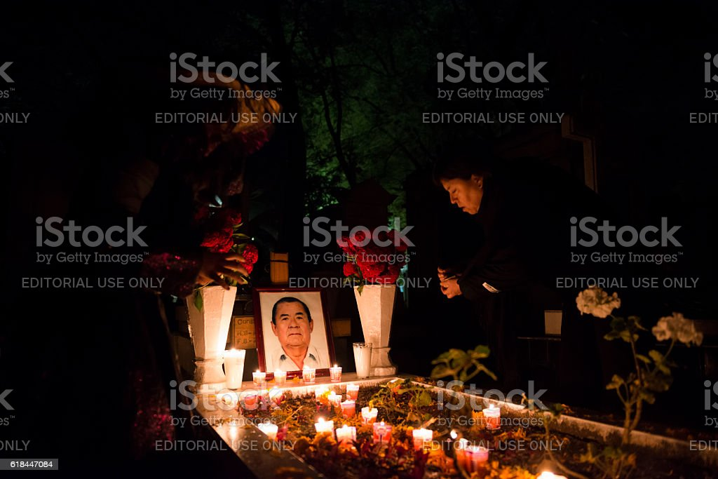 Day of the Dead at Panteon General in Oaxaca, Mexico stock photo