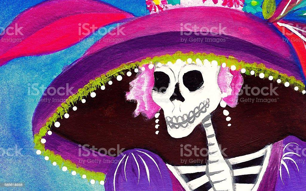 Day of the Dead Catrina Skeleton stock photo