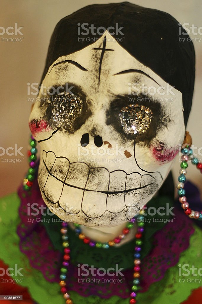 Day of the Dead Doll (Female) stock photo