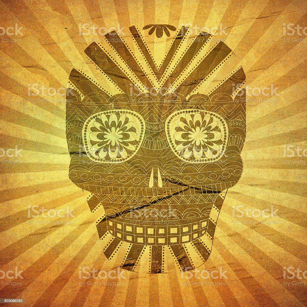 Day of The Dead grunge skull stock photo