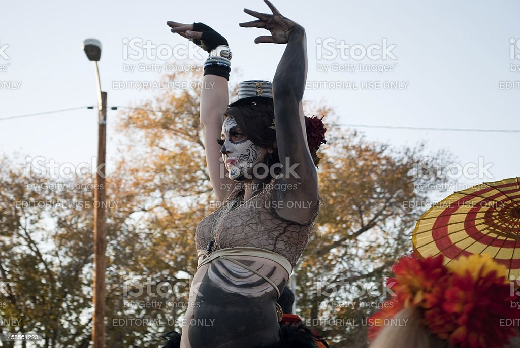 Day of the dead parade royalty-free stock photo