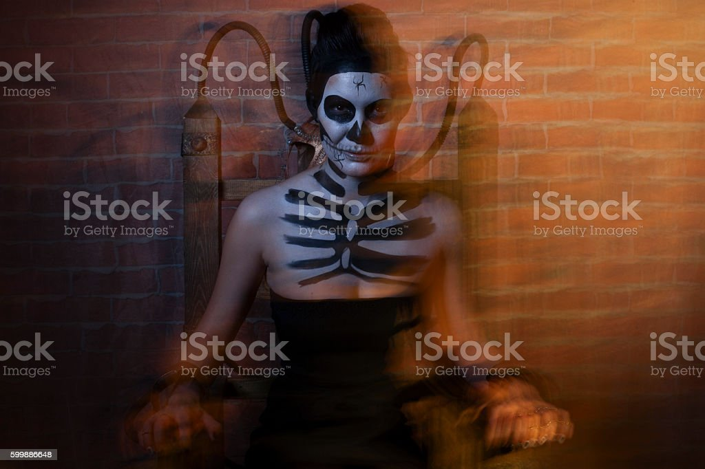 Day of the Dead persons. Halloween stock photo