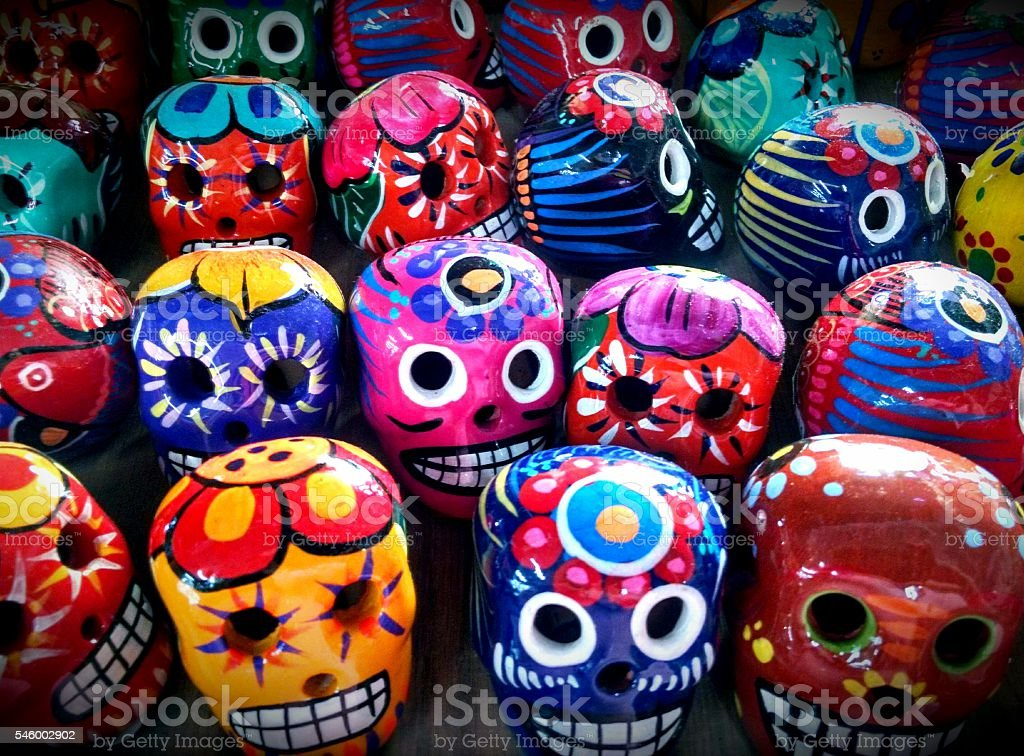 Day Of The Dead Skulls stock photo