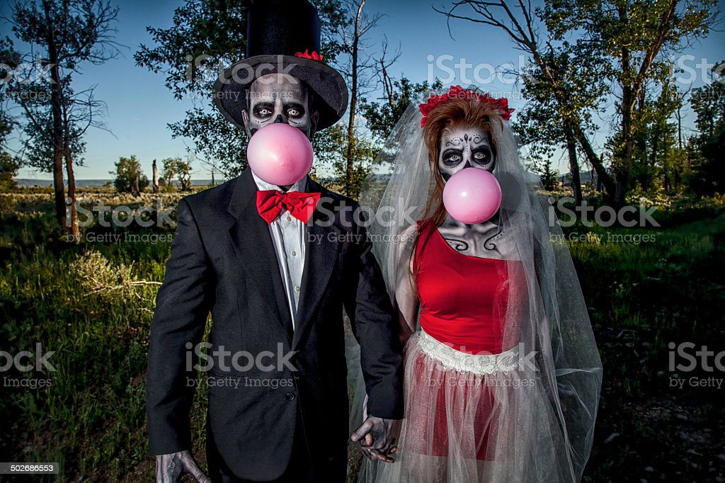 Day of the Dead Wedding stock photo