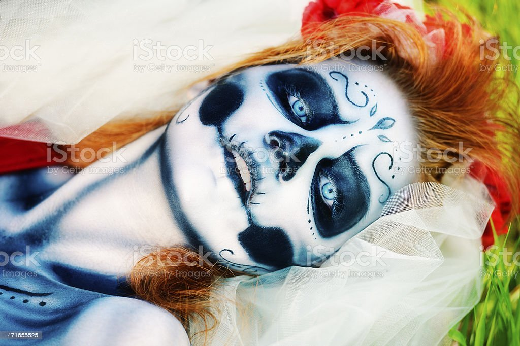 Day of The Dead Woman royalty-free stock photo