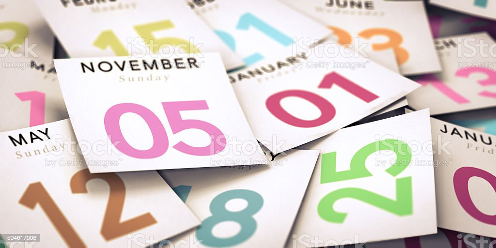 Day of the Week, Calendar stock photo