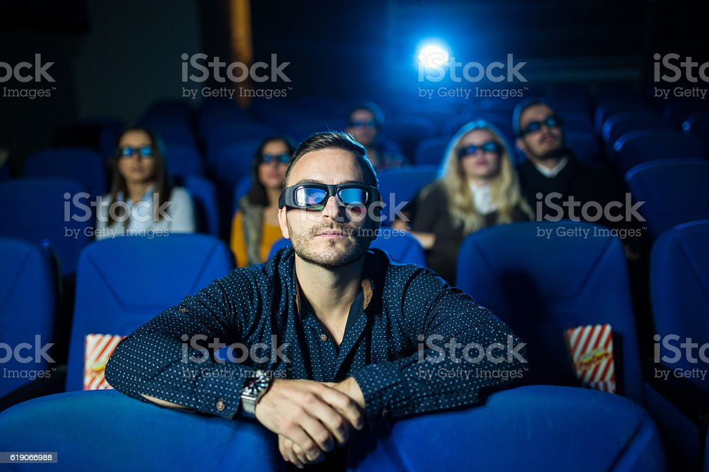 Day off at the cinema stock photo