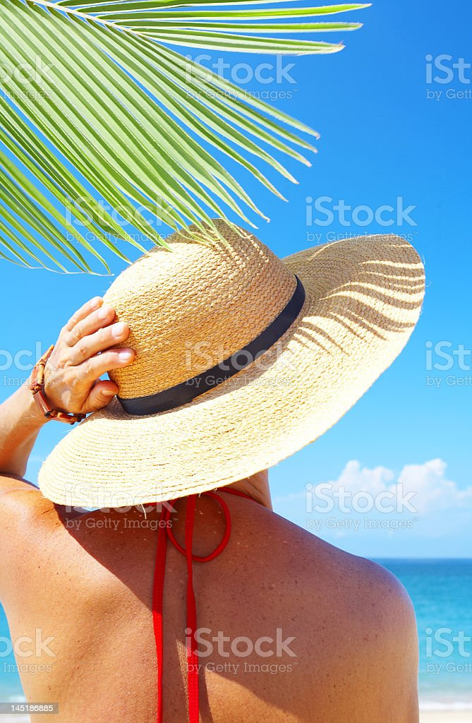 day on beach royalty-free stock photo