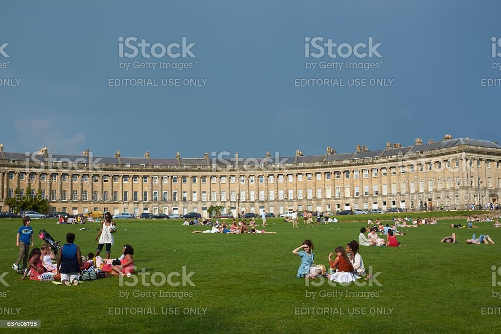 Day out in Bath stock photo