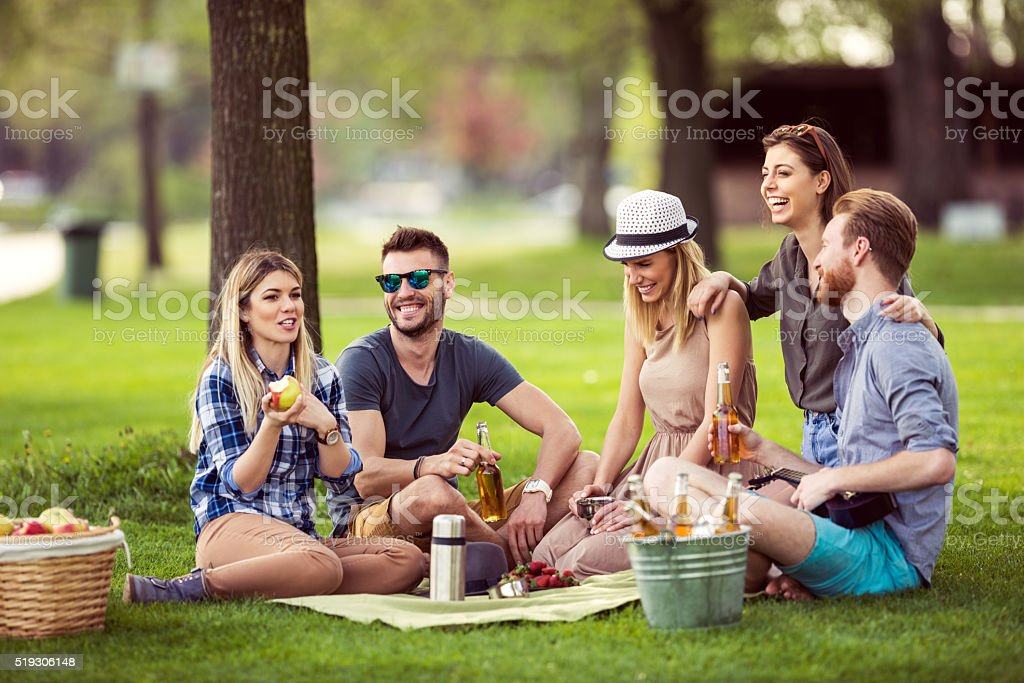 Day out with friends stock photo