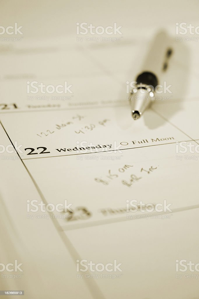 Day Planner stock photo