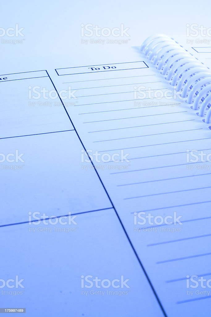 Day Planner/To Do stock photo