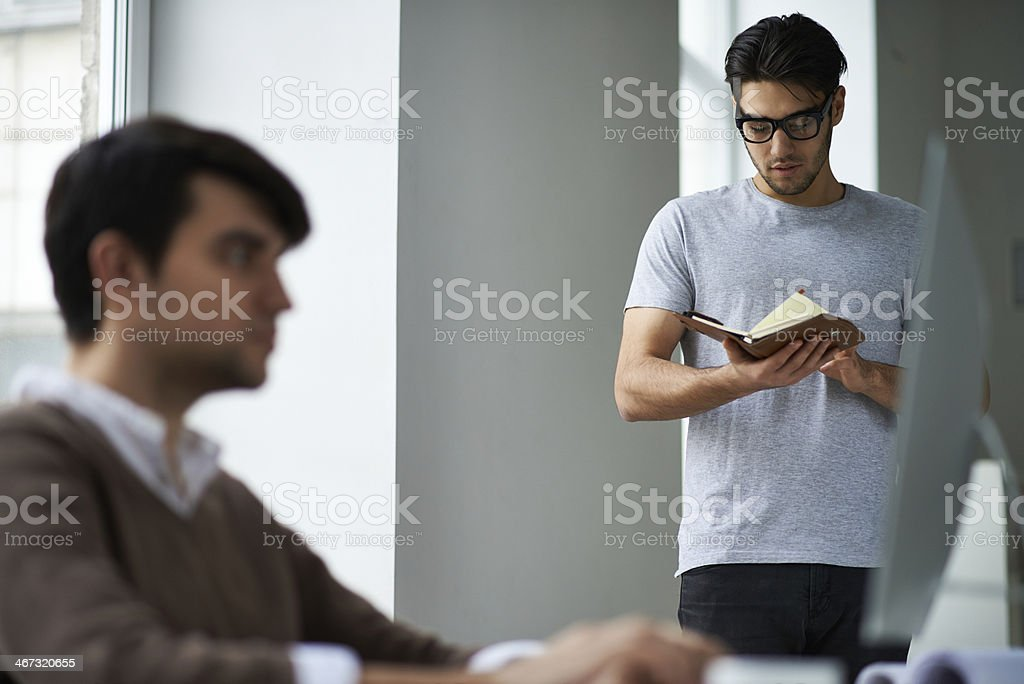 Day planning royalty-free stock photo