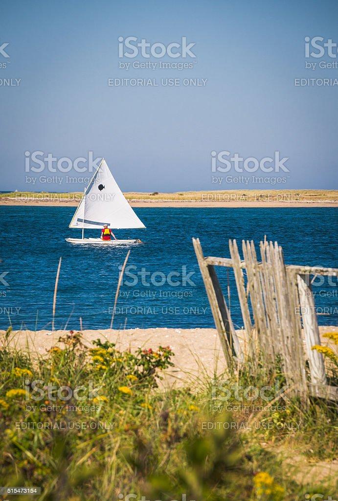 Day Sailing Nantucket stock photo