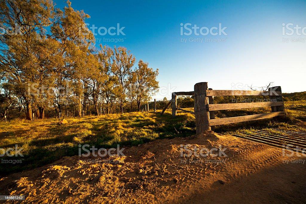 A day shoot of an Australian farmhouse stock photo