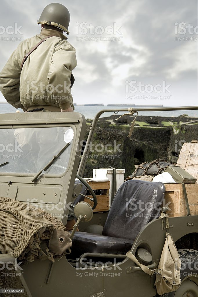 D Day soldier stock photo