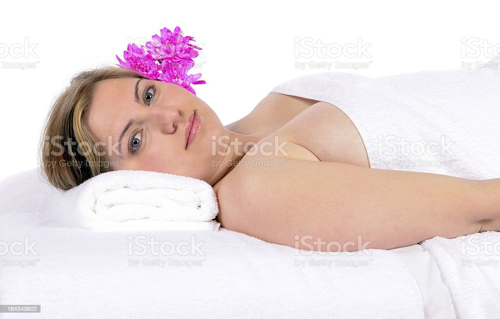 Day spa aroma therapy and massage royalty-free stock photo