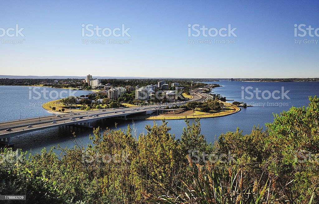 Day time image of South Perth from King's Park royalty-free stock photo