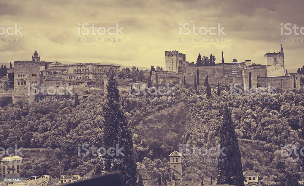 Day view of  Alhambra.  Granada stock photo