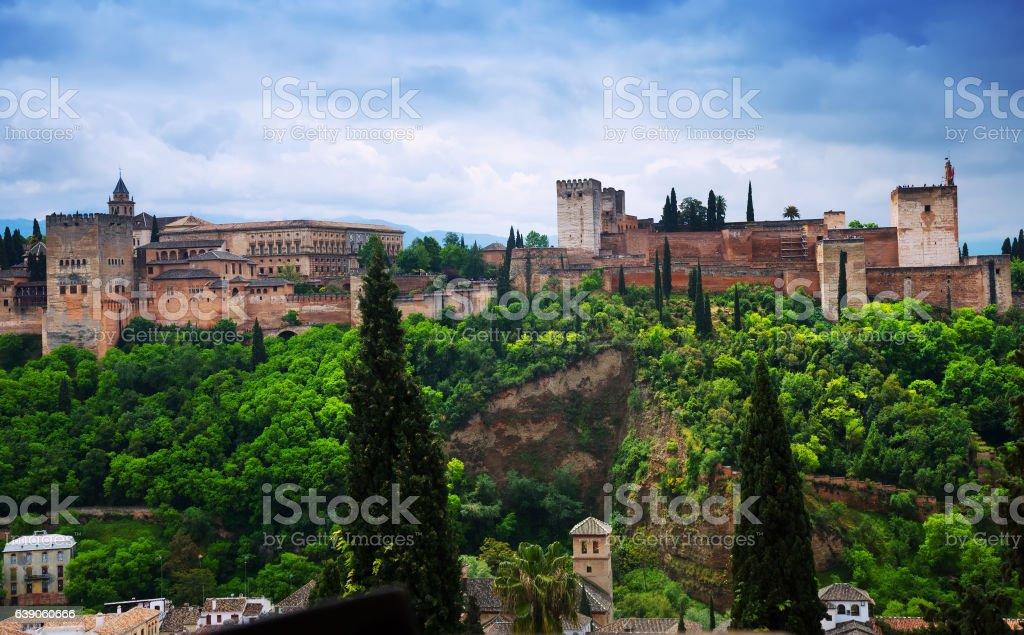 Day view of  Alhambra.  Granada stock photo