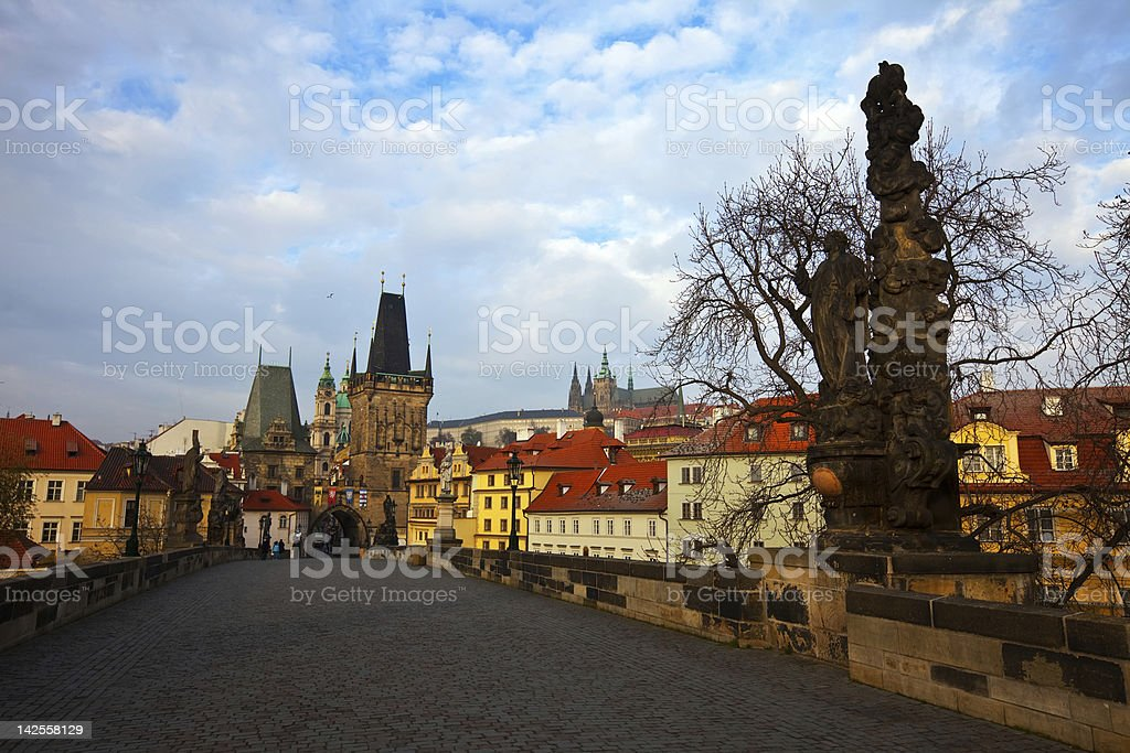 Day view of  Charles bridge royalty-free stock photo