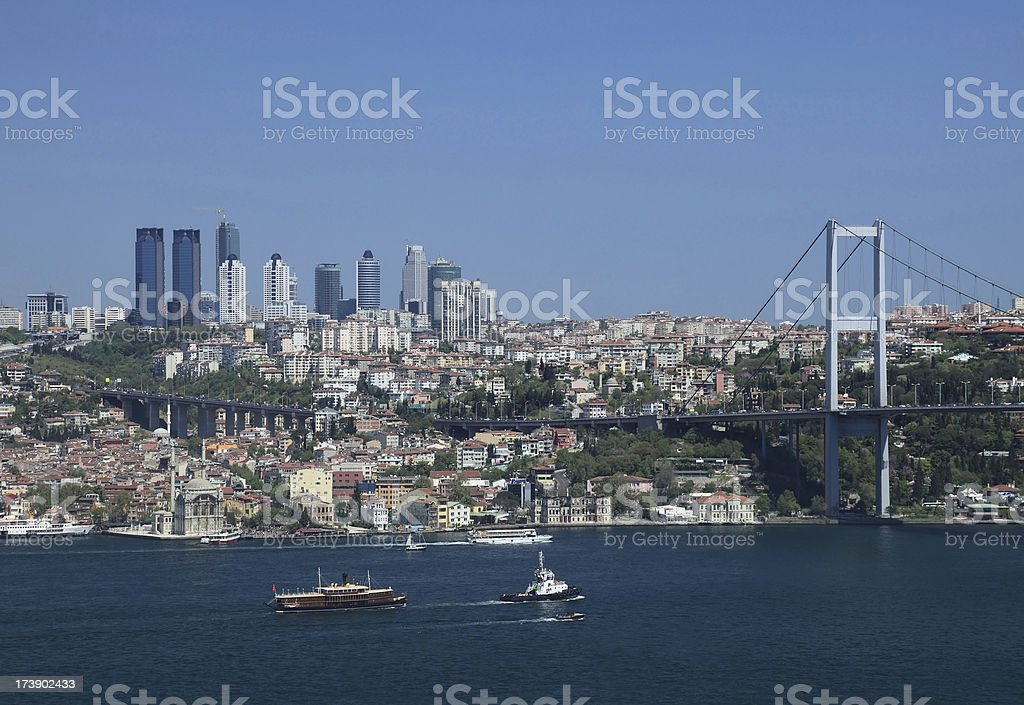 Day view of Istanbul royalty-free stock photo