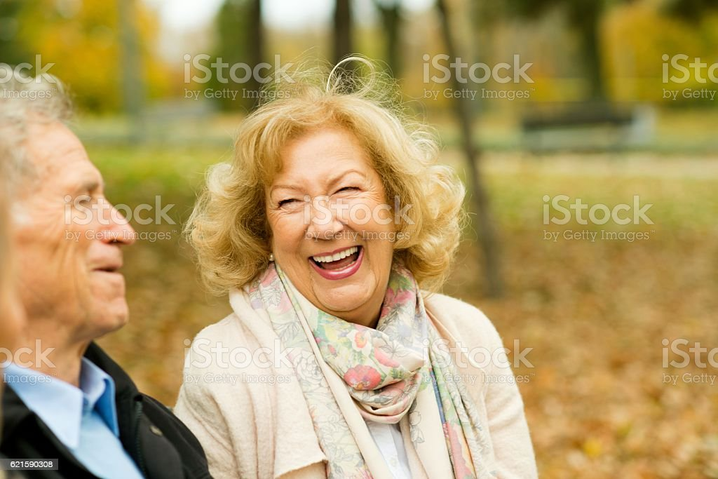 Day without laughter is a day wasted. stock photo