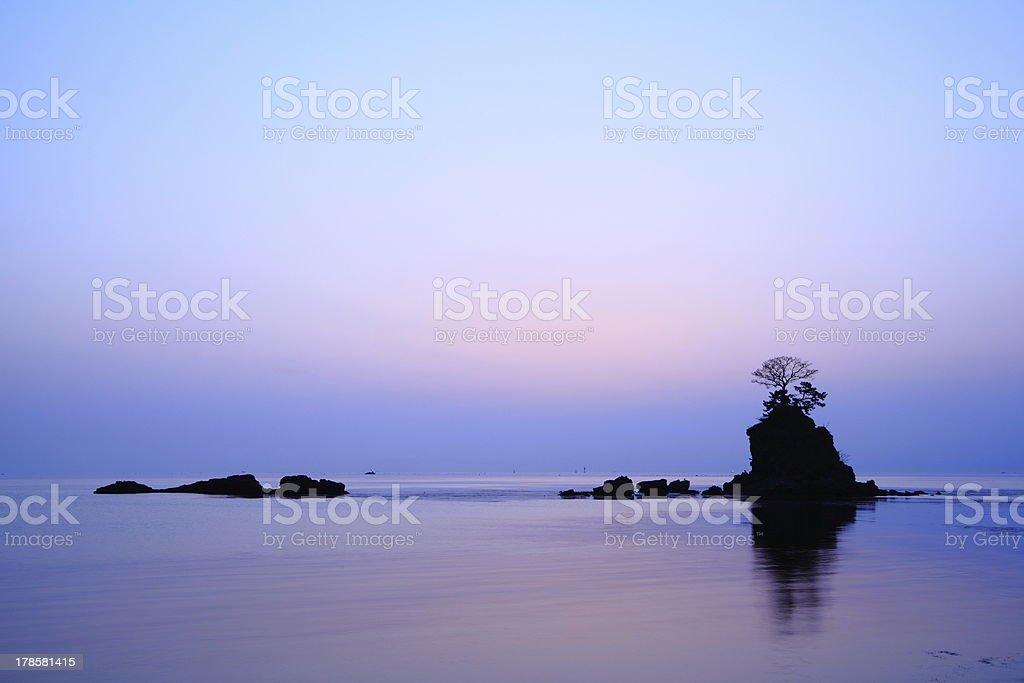 Daybreak at the Amaharashi coast stock photo