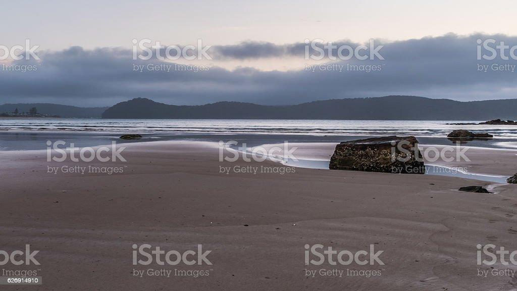 Daybreak at the beach stock photo