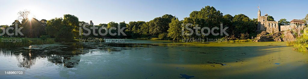 Daybreak in Central Park New York royalty-free stock photo
