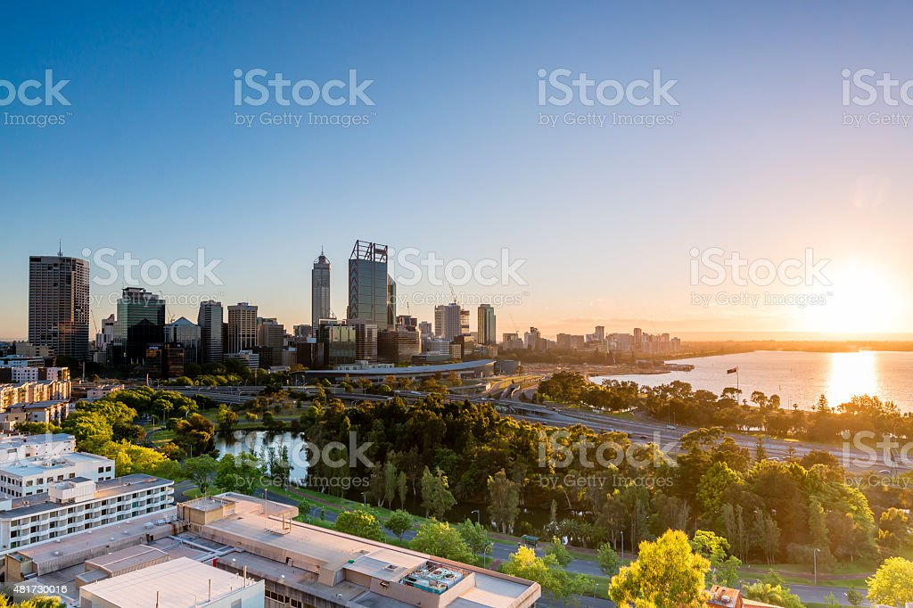 Daybreak in Perth II stock photo