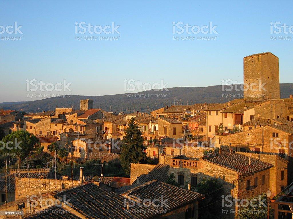 Daybreak over Tuscany royalty-free stock photo