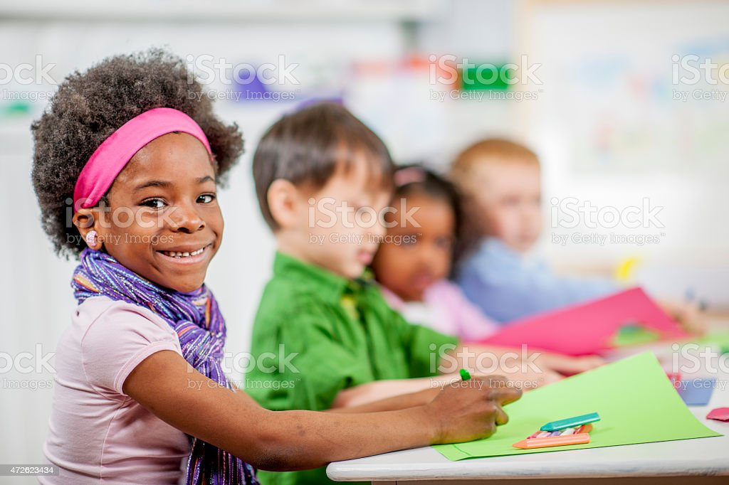 Daycare Arts and Crafts stock photo